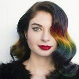 We're Obsessed With This Brunette-Approved Rainbow Ombre Trend