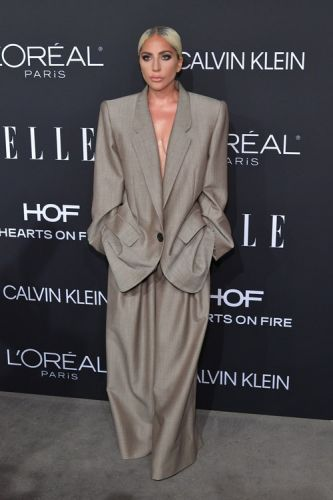 Lady Gaga's Oversize Suit For The Elle Women In Hollywood Awards Was A Literal Power Move