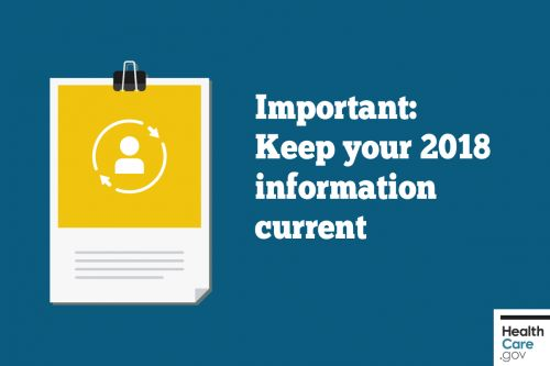 Important: Keep your 2018 information current