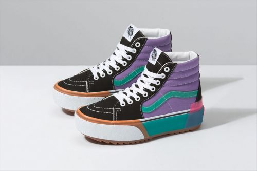 These Vans Stacked Sneakers Come In Low & High Tops, & I Need Both
