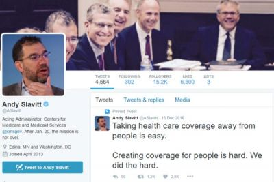 Andy Slavitt is leaving CMS, but his tweets defending Obamacare aren't going anywhere