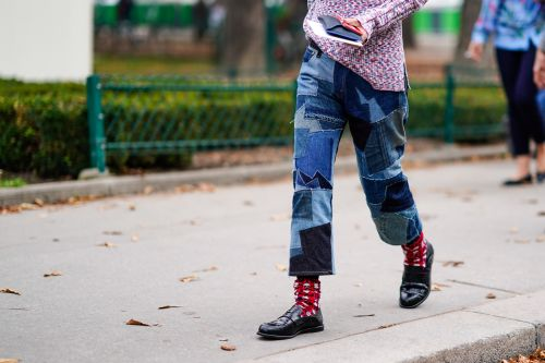The Patchwork Jeans Trend Of 2021 Is The Coolest Way To Wear Your Denim