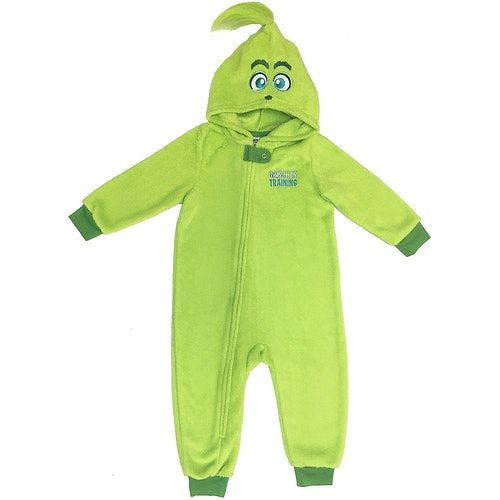 Party City's 'Grinch' Onesies For You & Your Dog Are Here For Winter Mornings