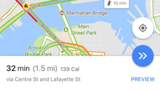 Google Maps Just Food-Shamed Its Users With A Calorie Counter