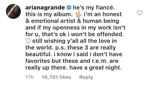 Ariana Grande's Message To Haters Who Have An Issue With Her Song About Pete Davidson Is Epic