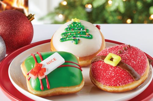 Krispy Kreme's 2020 Holiday Doughnuts Include A Treat Filled With Red Velvet Cake Batter