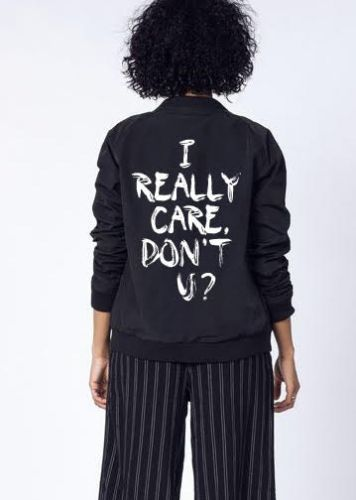 """Wildfang's """"I Really Care"""" Jacket Is The Best Response To Melania Trump's Offensive Jacket Choice"""