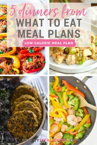 5 Dinners From What To Eat Meal Plans