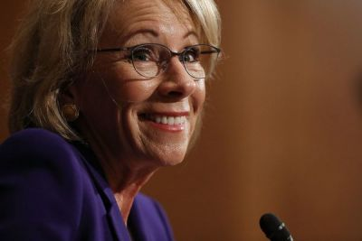 Guest star on 'As The Theranos Turns': Betsy DeVos