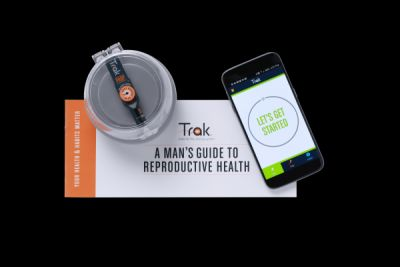 Test your sperm count at home with Sandstone Diagnostics' Trak device
