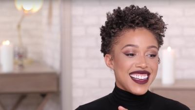 How This Beauty Vlogger Styles Her Super-Short, Tight Curls