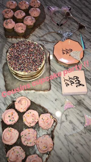 """Khloé Kardashian's """"Cousin Cupcake Party"""" With True, Saint, Chicago, & More Was Too Cute"""
