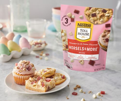 Nestlé Toll House's Strawberries & Cream Flavored Morsels & More Mix Will Brighten Up Your Baking