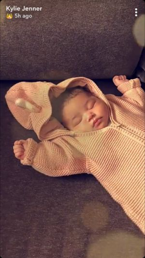 Kylie Jenner's Photo Of Stormi Sleeping Is Our Best Look Yet At Her Face