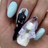Prince Harry and Meghan Markle Were Turned Into Nail Art, and It's Creepy AF