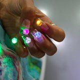 This Nail Artist Put LED Disco Lights on Her Nails, Because Why Not?