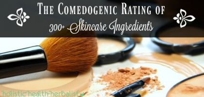 The Comedogenic Rating of 300+ Skincare Ingredients