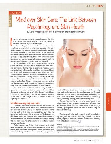 Editorial Spotlight | Mind over Skin Care: The Link Between Psychology and Skin Health