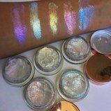 You've Never Seen Glitter Highlighter Swatches This Bright Before