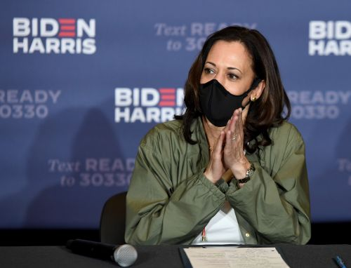 Kamala Harris Wore Timberland Boots & Pearls & No One Can Get Enough
