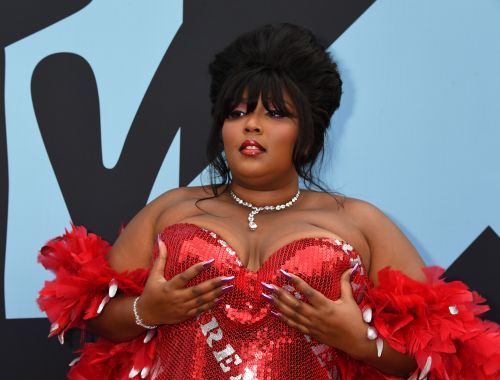 Lizzo's New Purple Hair Is Long, Luscious, & Looks Good As Hell