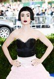 Lily Collins Looks Like a Sexy Vampire Doll at the Met Gala