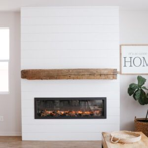 DIY Shiplap Electric Fireplace Build with Mantel