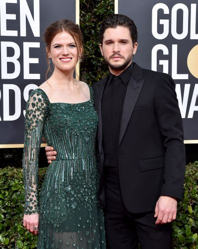 Rose Leslie Gave Kit Harington A Haircut & I'm LOLing At The Result