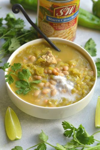 Healthy White Chicken Chili {GF, Low Cal}