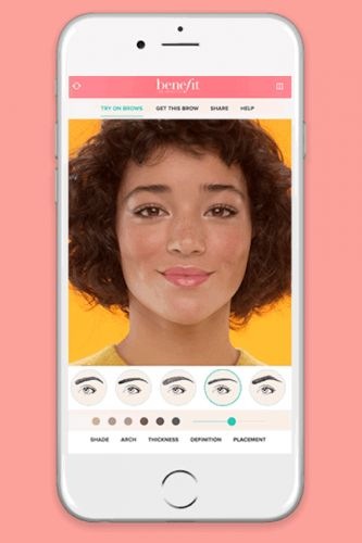 """Benefit's New Virtual Reality Tool Lets You """"Try On"""" Different Brow Shapes"""