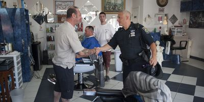 Police and community members work together in Everett, MA