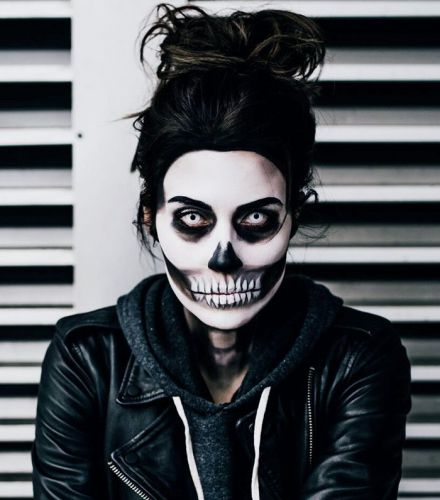 This Spooky Skull Makeup Tutorial Only Requires a Few Products