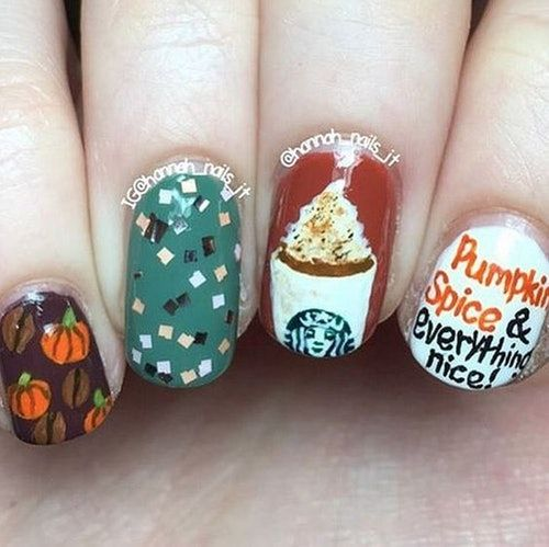 The Starbucks x Skinny Dip Nail Decals Take Your For Pumpkin Spice Lattes To The Next Level