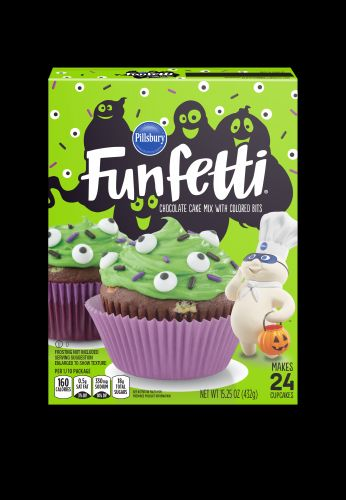 Pillsbury's New Funfetti Slime Cake Mix & Frosting For Halloween Look Scary Good