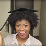 Natural-Haired Beauties, Rejoice! This Hack Will Make Your Grad Cap Stay Put