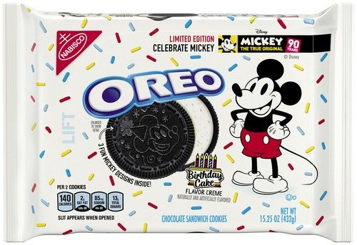 Birthday Cake Oreos For Mickey Mouse's 90th Anniversary Are Here, So Let's Celebrate