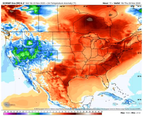 For Much of the U.S., Good Weather Will Allow for an Outdoor Thanksgiving