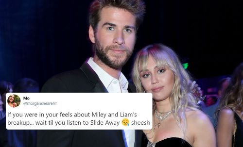 """The Tweets About Miley Cyrus' """"Slide Away"""" Show Fans Are Heartbroken Over Miley & Liam's Split"""