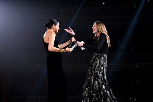 Meghan Markle's Dress At The British Fashion Awards Rivaled Her Wedding Look In Cool Simplicity