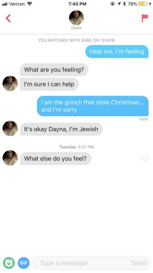 I Messaged My Tinder Matches With Quotes From 'The Grinch' & Here's What Happened