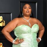 Lizzo Gave the Classic French Manicure a Fancy Twist With Metallic Gold Tips