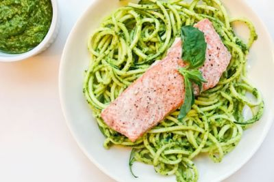 The Be Well Recipe: Pesto Pasta with Salmon