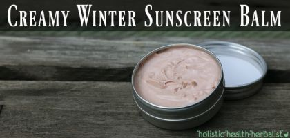 Creamy Winter Sunscreen Balm