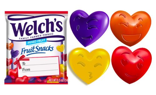 Welch's Valentine's Day Fruit Snacks Have The Cutest Emoji Faces On Each Gummy