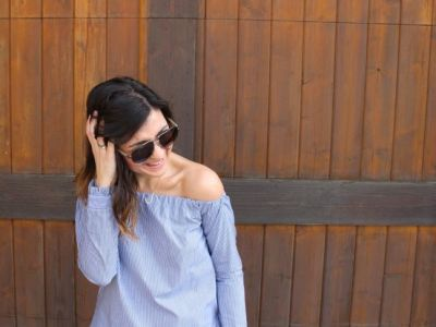 This DIY Off-the-Shoulder Top Is So On-Trend - & Doesn't Require Any Sewing