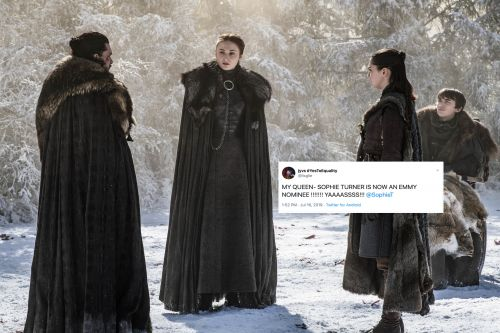 These Tweets About Sophie Turner's Emmy Nom For 'GOT' Will Have You Cheering