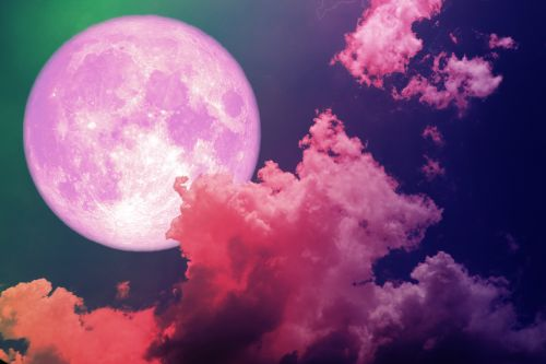 The April 2020 Full Pink Moon Is About Inviting More Color Into Your World