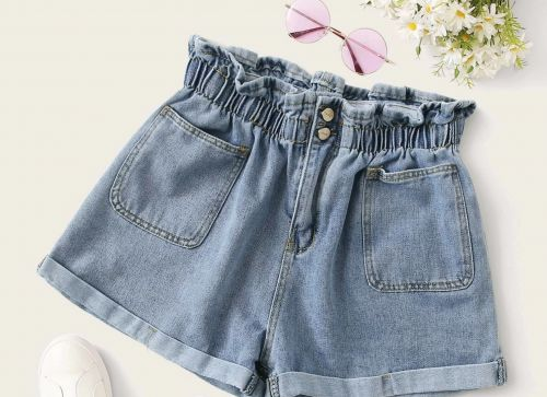These Curvy Denim Shorts Are High-Waisted, Oh-So-Comfy, & Perfect All Year