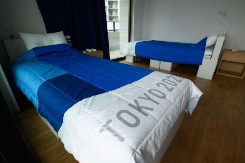"""Are The Cardboard Beds At The Tokyo Olympics Really """"Anti-Sex?"""" Probs Not"""