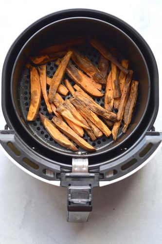 Healthy Air Fryer Sweet Potato Fries {Low Cal, GF, Paleo, Vegan}